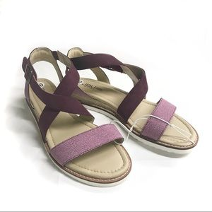 NWT JBU by Jambu Strappy Espadrille Sandals Purple